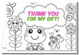 Color Your Own - Spring Garden - Birthday Party Thank You Cards thumbnail