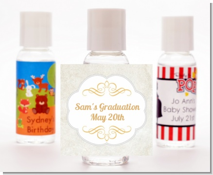 Con-Grad-ulations - Personalized Graduation Party Hand Sanitizers Favors