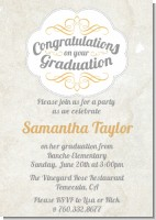 Con-Grad-ulations - Graduation Party Invitations