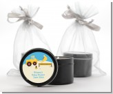 Construction Truck - Baby Shower Black Candle Tin Favors