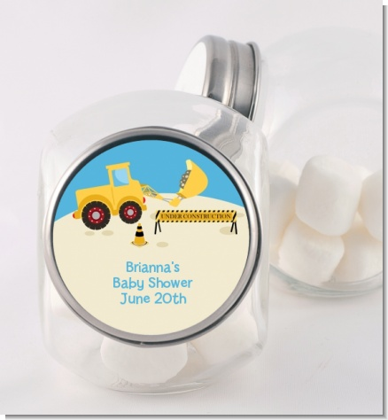 Construction Truck - Personalized Baby Shower Candy Jar
