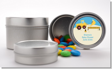 Construction Truck - Custom Baby Shower Favor Tins