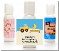 Construction Truck - Personalized Baby Shower Lotion Favors