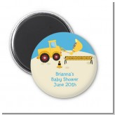 Construction Truck - Personalized Baby Shower Magnet Favors