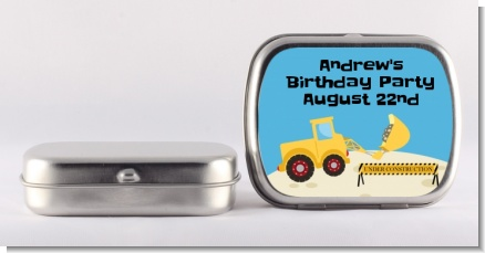 Construction Truck - Personalized Birthday Party Mint Tins