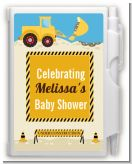 Construction Truck - Baby Shower Personalized Notebook Favor