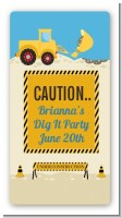 Construction Truck - Custom Rectangle Baby Shower Sticker/Labels