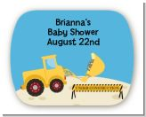 Construction Truck - Personalized Baby Shower Rounded Corner Stickers