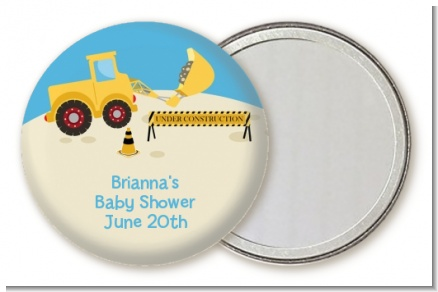Construction Truck - Personalized Baby Shower Pocket Mirror Favors