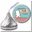Cookie Exchange - Hershey Kiss Christmas Sticker Labels thumbnail