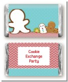 Cookie Exchange - Personalized Christmas Mini Candy Bar Wrappers