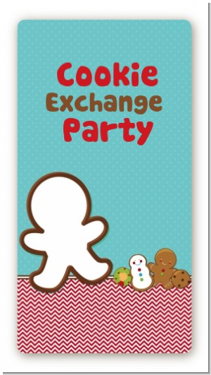 Cookie Exchange - Custom Rectangle Christmas Sticker/Labels
