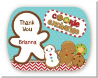 Cookie Exchange - Personalized Christmas Rounded Corner Stickers