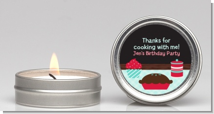 Cooking Class - Birthday Party Candle Favors