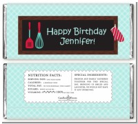 Cooking Class - Personalized Birthday Party Candy Bar Wrappers