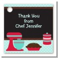 Cooking Class - Personalized Birthday Party Card Stock Favor Tags thumbnail