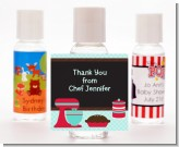 Cooking Class - Personalized Birthday Party Hand Sanitizers Favors