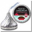 Cooking Class - Hershey Kiss Birthday Party Sticker Labels thumbnail