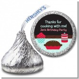 Cooking Class - Hershey Kiss Birthday Party Sticker Labels