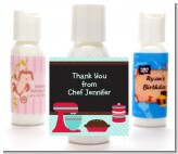 Cooking Class - Personalized Birthday Party Lotion Favors