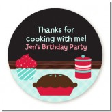 Cooking Class - Round Personalized Birthday Party Sticker Labels