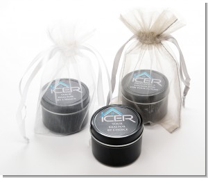 Corporate - Black Candle Tin Favors