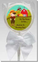 Country Boy On The Farm - Personalized Birthday Party Lollipop Favors