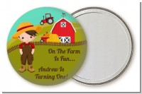Country Boy On The Farm - Personalized Birthday Party Pocket Mirror Favors