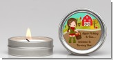 Country Girl Apple Picking - Birthday Party Candle Favors