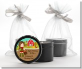 Country Girl Apple Picking - Birthday Party Black Candle Tin Favors