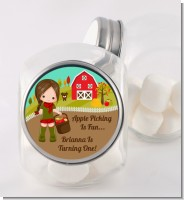 Country Girl Apple Picking - Personalized Birthday Party Candy Jar
