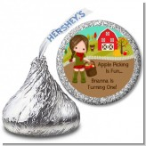 Country Girl Apple Picking - Hershey Kiss Birthday Party Sticker Labels