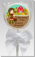 Country Girl Apple Picking - Personalized Birthday Party Lollipop Favors