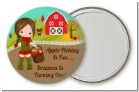 Country Girl Apple Picking - Personalized Birthday Party Pocket Mirror Favors