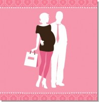 Silhouette Couple  It's a Girl Baby Shower Theme