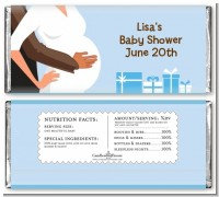 Couple Expecting Boy - Personalized Baby Shower Candy Bar Wrappers