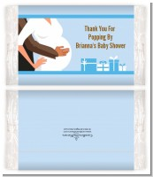 Couple Expecting Boy - Personalized Popcorn Wrapper Baby Shower Favors