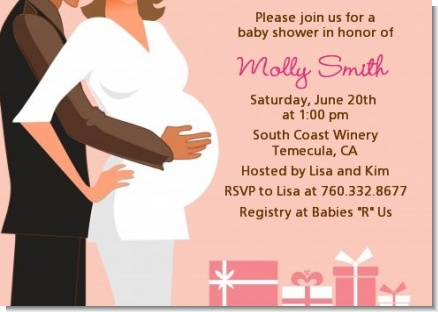 Couple Expecting Girl - Baby Shower Invitations