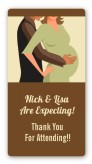 Couple Expecting - Custom Rectangle Baby Shower Sticker/Labels