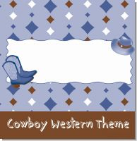 Cowboy Western Baby Shower Theme