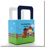 Little Cowboy - Personalized Baby Shower Favor Boxes