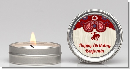 Cowboy Rider - Birthday Party Candle Favors