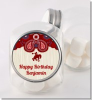 Cowboy Rider - Personalized Birthday Party Candy Jar