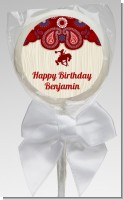 Cowboy Rider - Personalized Birthday Party Lollipop Favors
