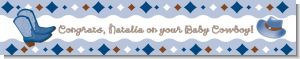 Cowboy Western - Personalized Baby Shower Banners