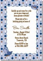 Cowboy Western - Birthday Party Invitations