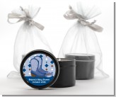 Cowboy Western - Birthday Party Black Candle Tin Favors
