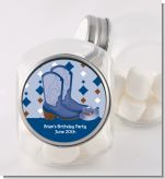 Cowboy Western - Personalized Baby Shower Candy Jar