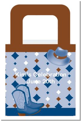 Cowboy Western - Personalized Baby Shower Favor Boxes