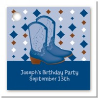 Cowboy Western - Personalized Birthday Party Card Stock Favor Tags